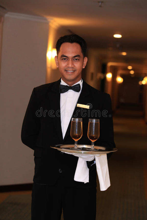 Download Waiter or butler stock photo. Image of butler, young - 37474656