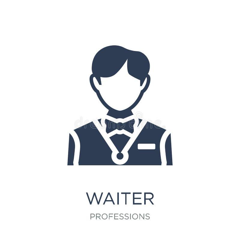 Waiter icon. Trendy flat vector Waiter icon on white background stock illustration