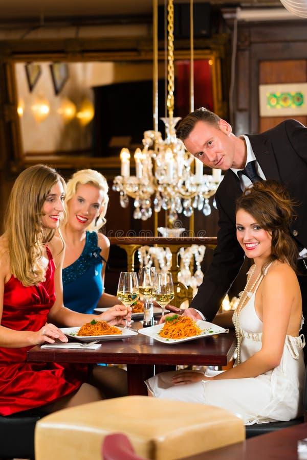 Download Waiter Served Dinner In A Fine Restaurant Stock Image - Image: 28557841