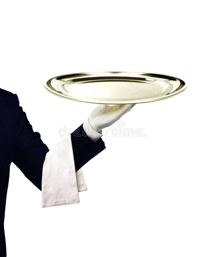 Waiter serving royalty free stock image