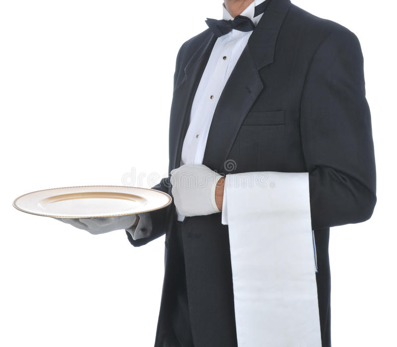 Download Waiter with Tray stock photo. Image of person, caucasian - 11436086