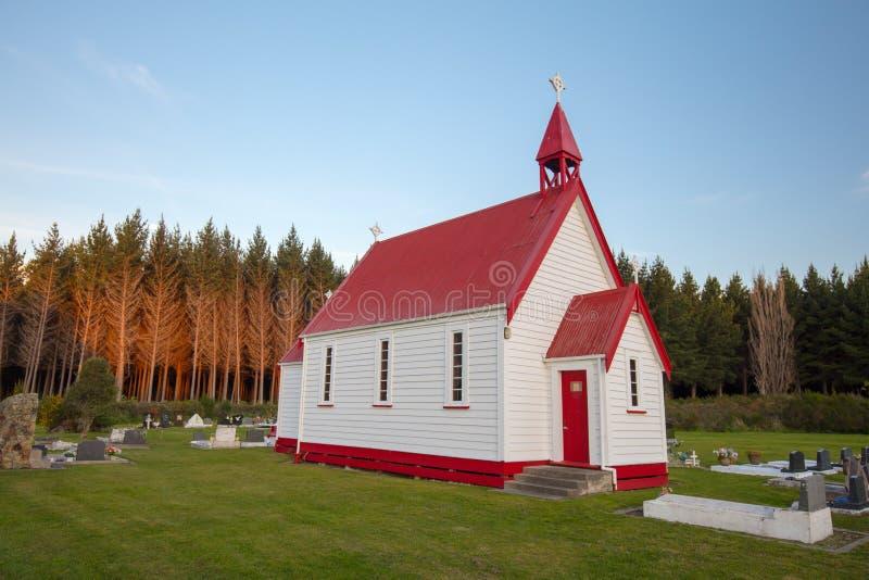 Waitetoko-Kirche bei Waitetoko Marae lizenzfreie stockfotos