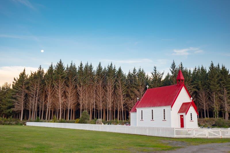 Waitetoko-Kirche bei Waitetoko Marae lizenzfreie stockfotografie
