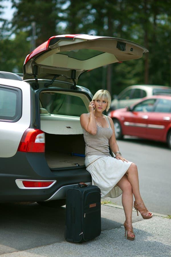 Download Waiting stock photo. Image of transportation, auto, suitcase - 20118010
