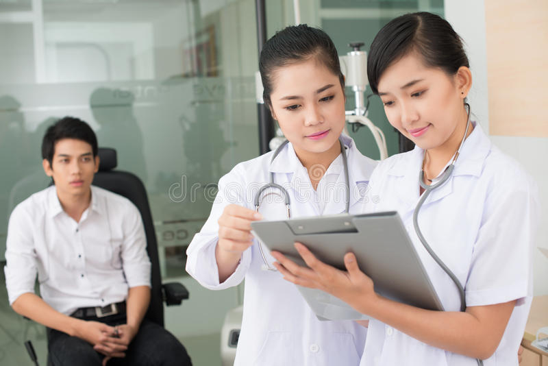 Download Waiting stock image. Image of doctor, intern, asian, people - 27434307