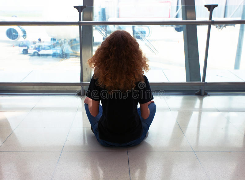 Download Waiting At The Airport Royalty Free Stock Photography - Image: 20630077