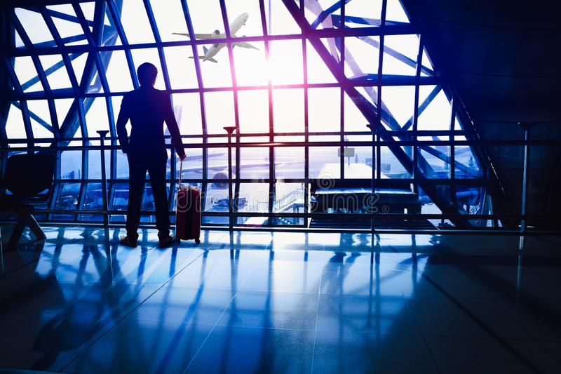 Waiting in the airport royalty free stock photo