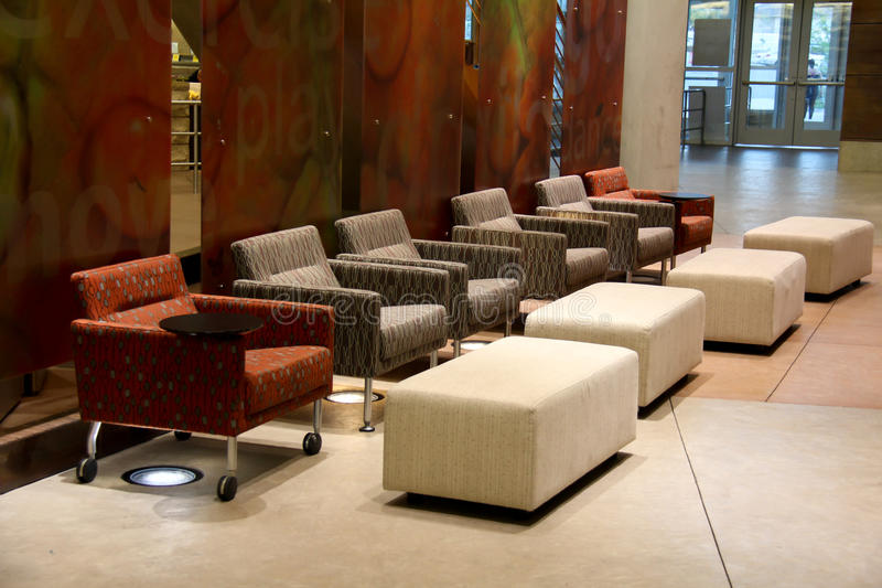Waiting Area. Image of a relaxing waiting area at a recreation center stock images