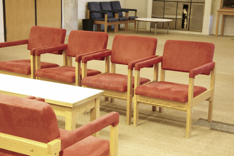 Waiting Area. Indoors royalty free stock image