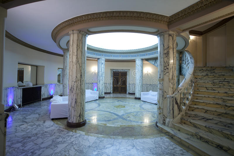 Waiting area. A waiting area in a luxury palace stock photography