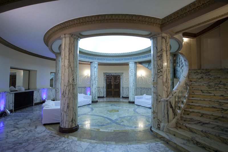 Waiting area. A waiting area in a luxury palace royalty free stock photos
