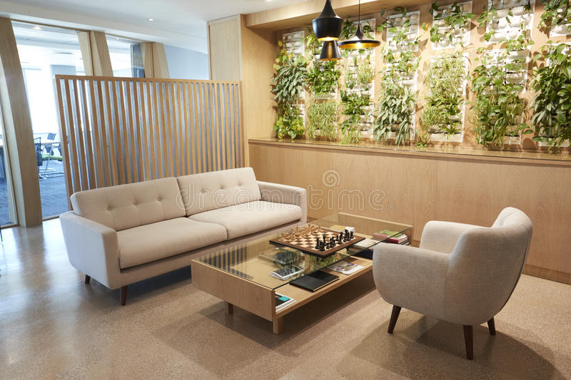 Waiting Area Of Modern Office With No People royalty free stock images