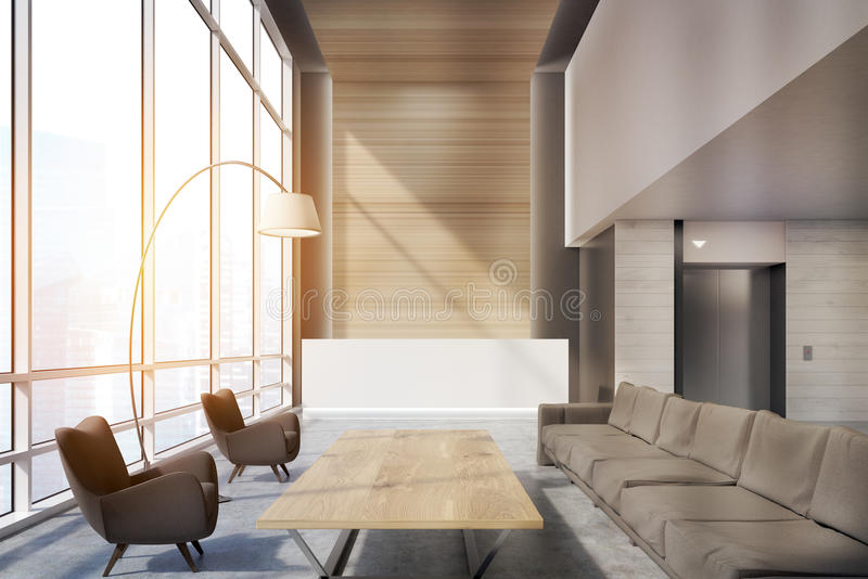 Download Waiting Area In An Office, Toned Stock Illustration - Image: 83722817