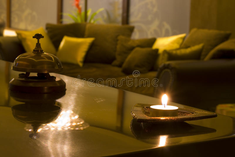 Waiting area in a SPA center royalty free stock photo