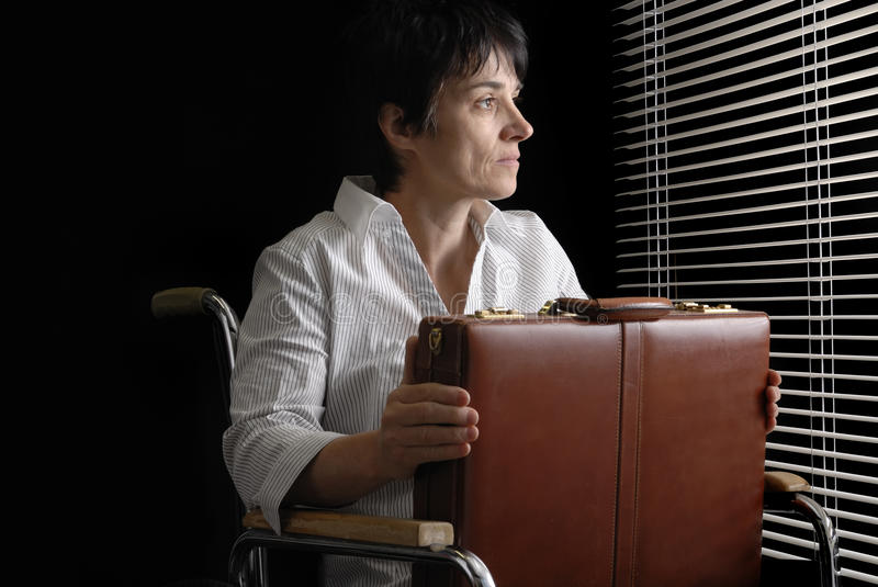 Download Waiting Business Woman In Wheelchair Stock Photo - Image: 14763124