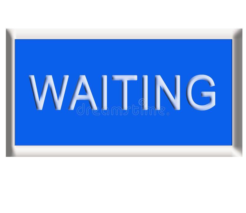 Waiting Button stock photos