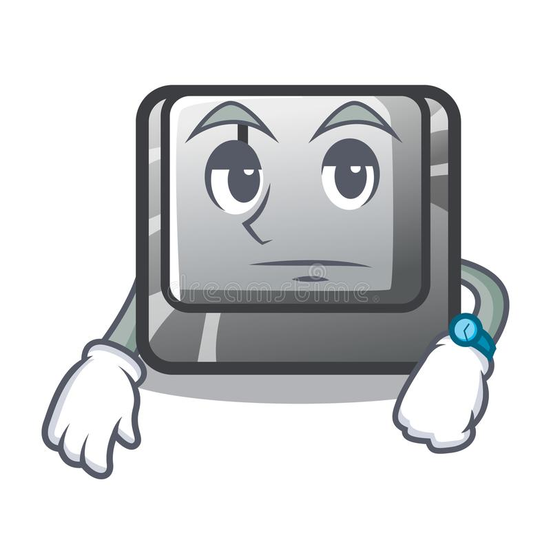 Waiting button I isolated in the cartoon royalty free illustration