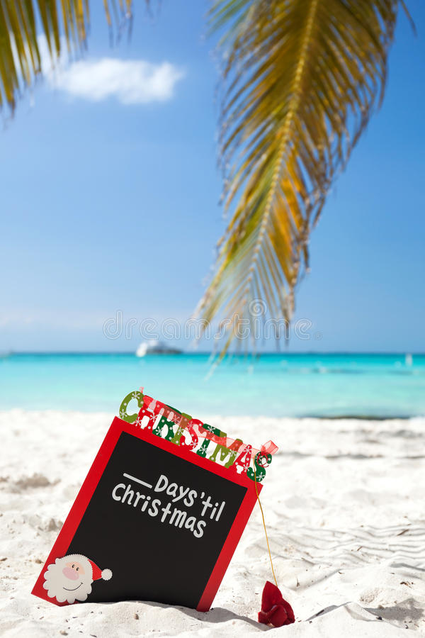 Waiting for Christmas holiday on tropical vacation royalty free stock photos