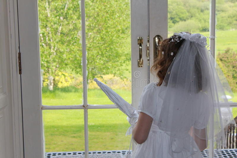Waiting on Communion Day stock photography