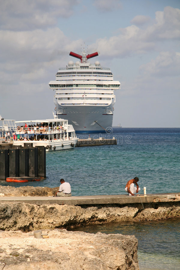 Waiting Cruise Ship royalty free stock photos
