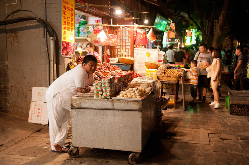 Waiting For Customers At Muslim Street Editorial Image
