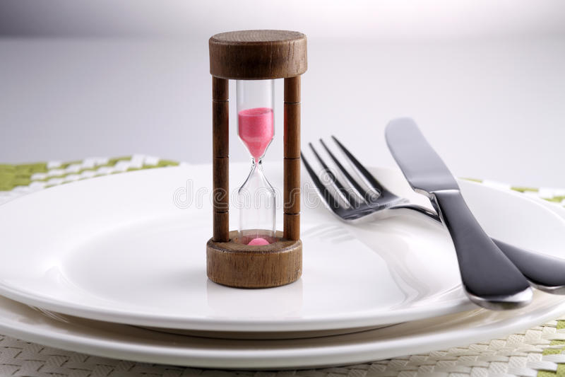 Waiting for the dinner stock images