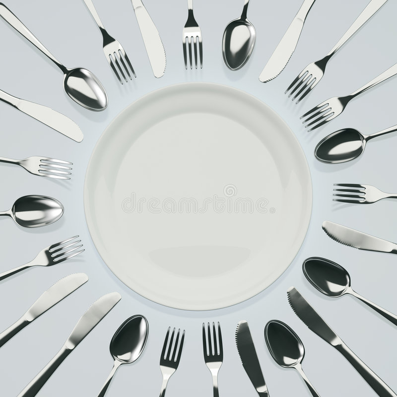 Download Waiting for Dinner stock illustration. Image of banquet - 6890891