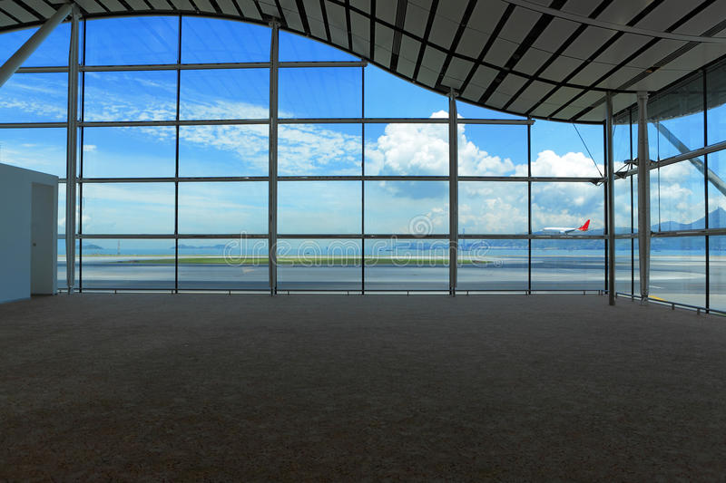 Waiting hall. Modern waiting hall in airport royalty free stock image