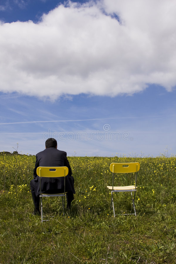 Waiting for his partner royalty free stock image