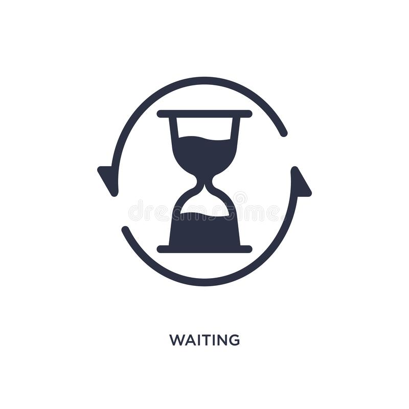 waiting icon on white background. Simple element illustration from user interface concept stock illustration