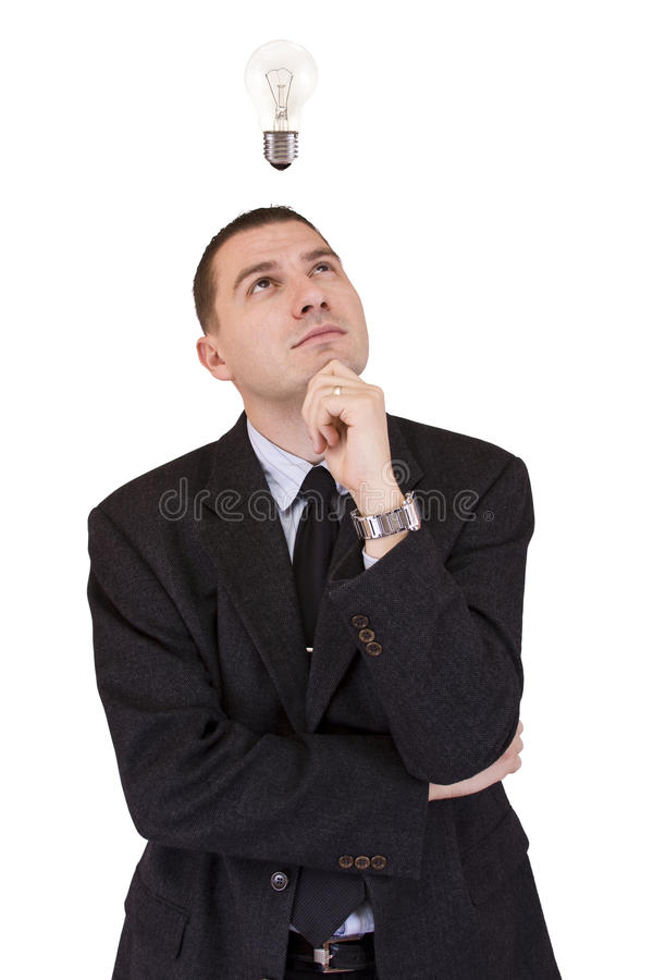 Waiting for idea royalty free stock photos