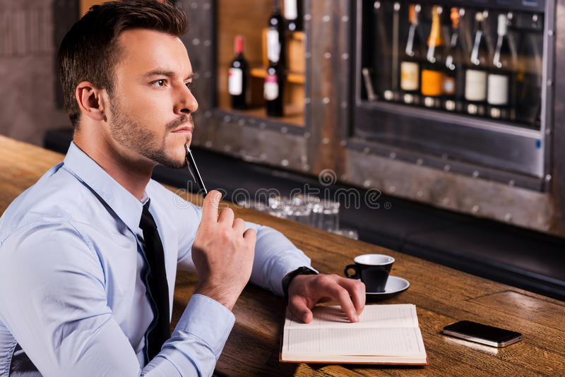 Waiting for inspiration. stock photography