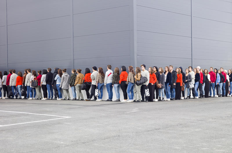 Download Waiting in Line stock photo. Image of journey, casual - 21333260