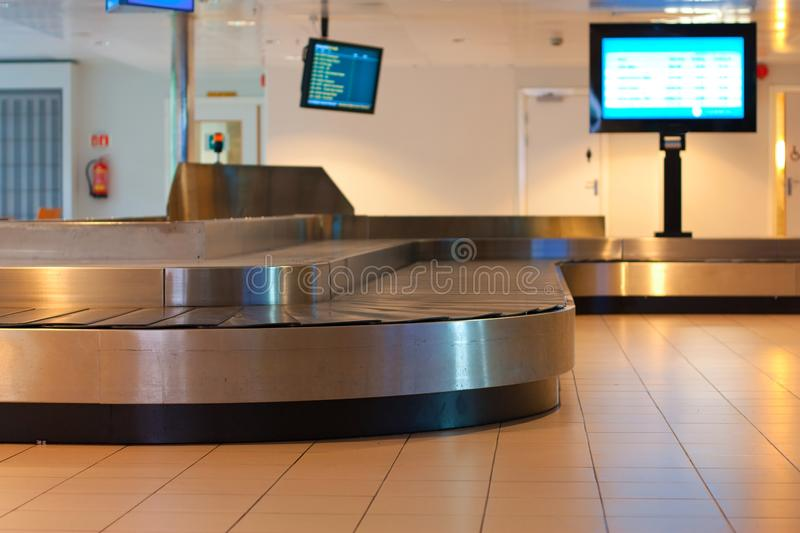 Waiting for luggage royalty free stock photography