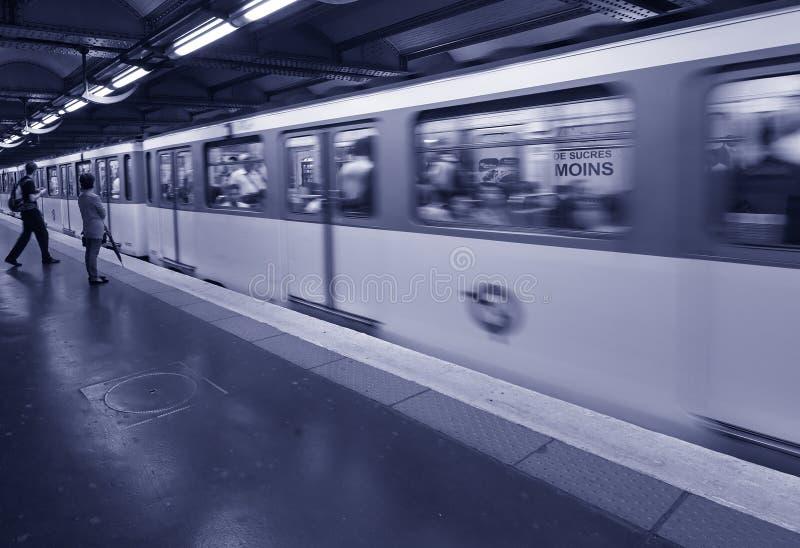 Waiting Metro Paris stock photography