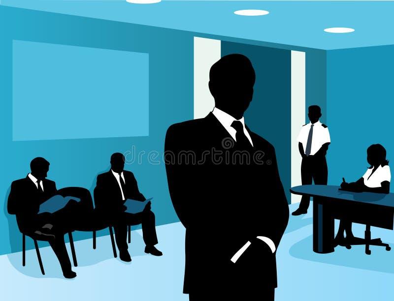 Waiting room vector illustration