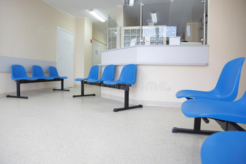 Download Waiting Room Blue Chairs On The Floor Stock Image - Image: 22642451