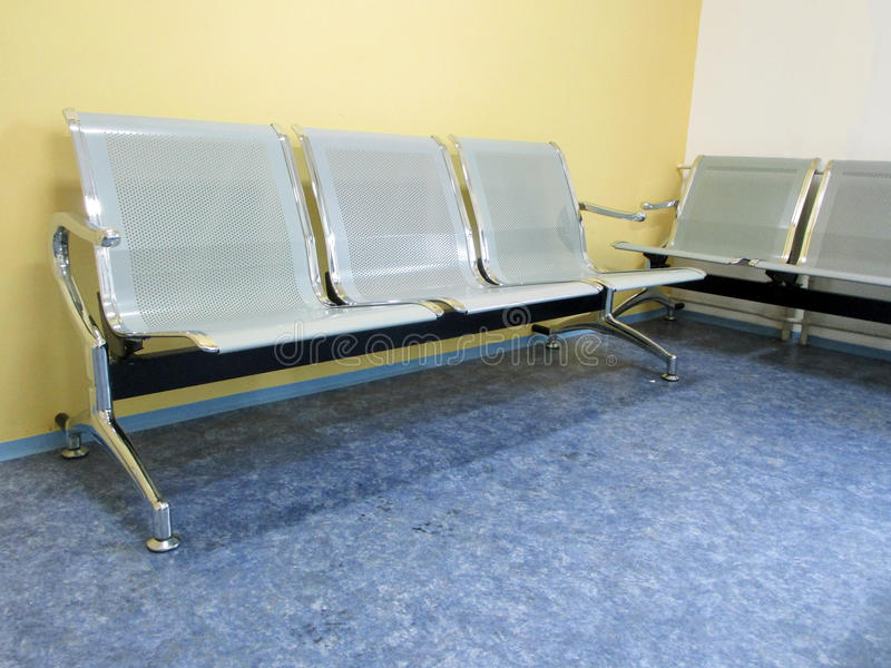 Waiting room in doctor office. With yellow wall royalty free stock photo