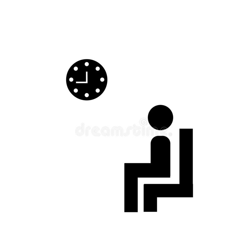 Waiting room icon vector sign and symbol isolated on white background, Waiting room logo concept royalty free illustration