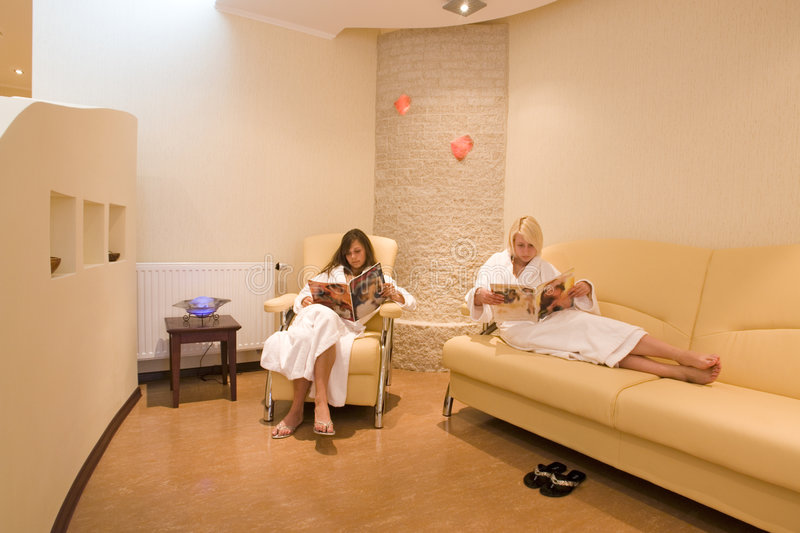 Waiting room at the spa royalty free stock images