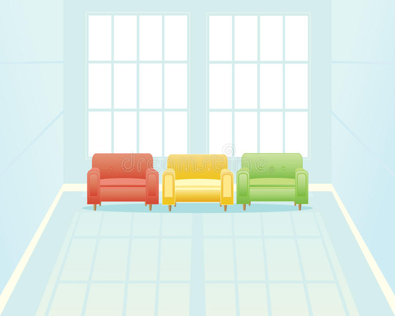 Download Waiting room with window stock vector. Illustration of seats - 21789936