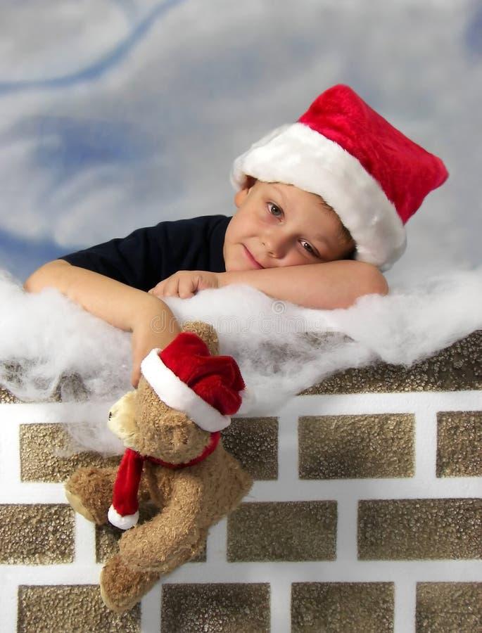 Waiting on Santa stock photo