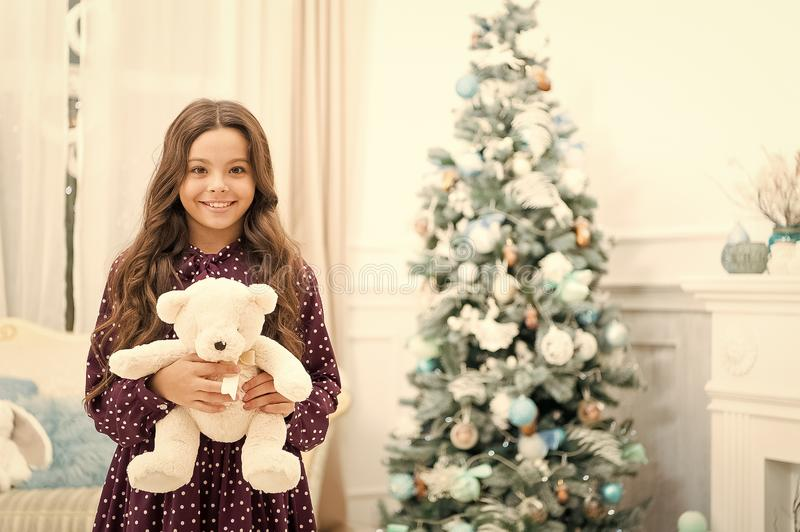 Waiting for santa. Xmas. Cute little child girl with xmas present. happy new year. Christmas shopping. christmas family. Holiday. The morning before Xmas. Beat stock images