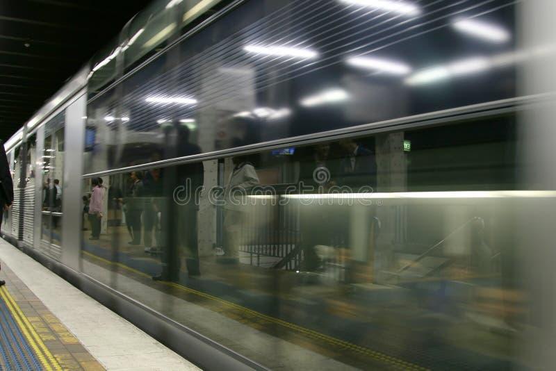 Waiting subway stock image