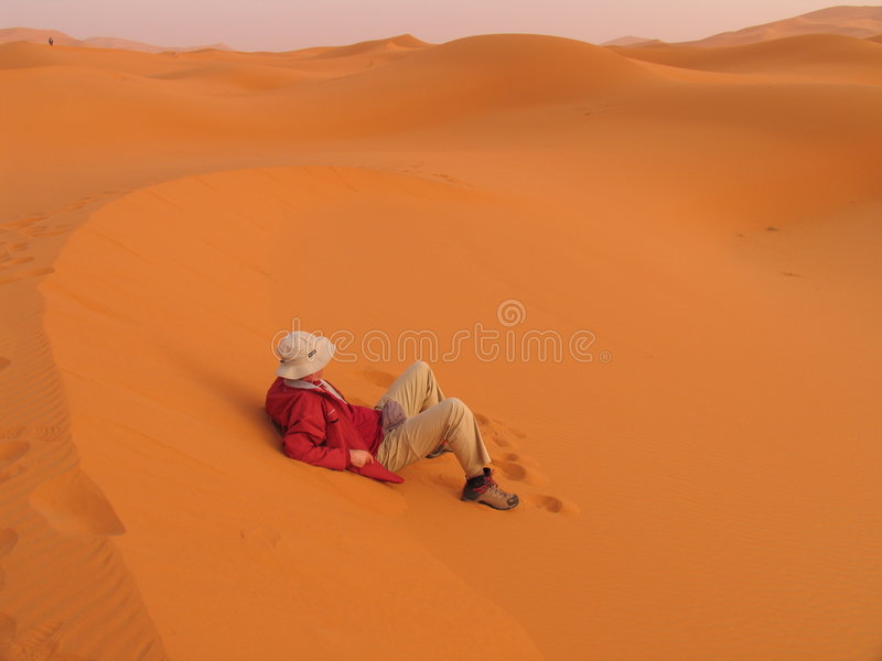 Download Waiting for the sunset stock photo. Image of desert, alone - 221738