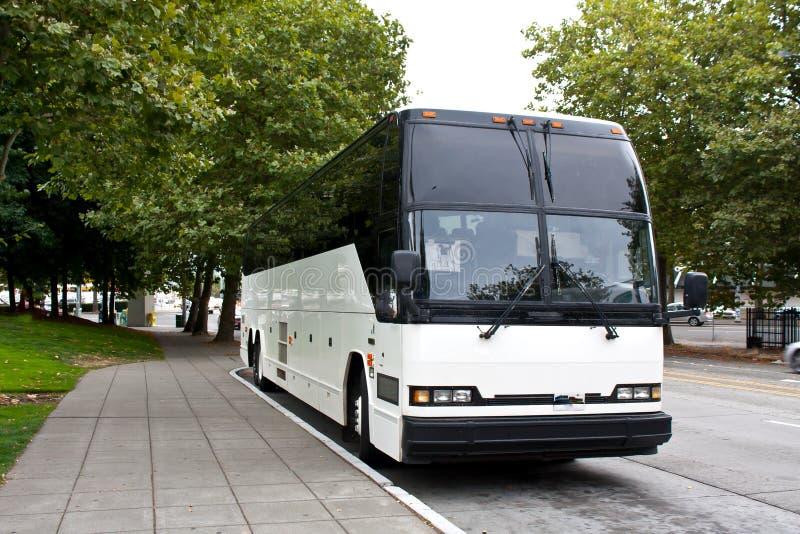 Waiting Tour Bus stock photos