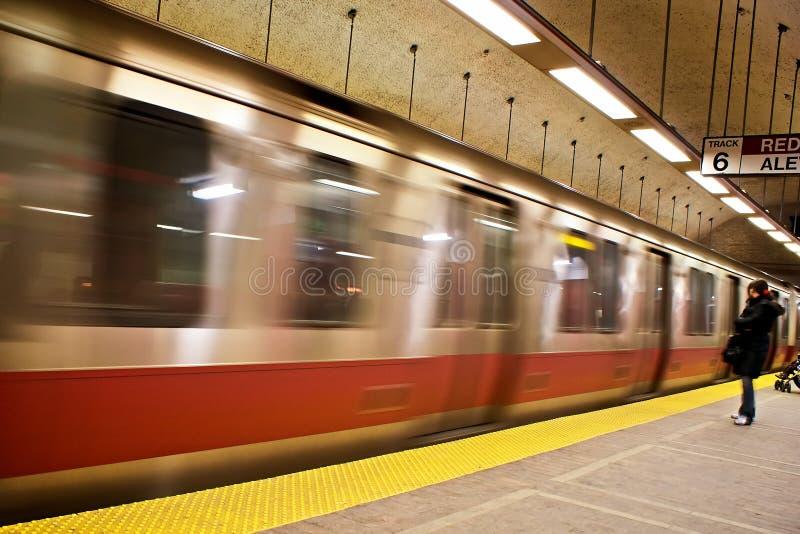 Download Waiting at track 6 stock image. Image of subway, blur - 7720823