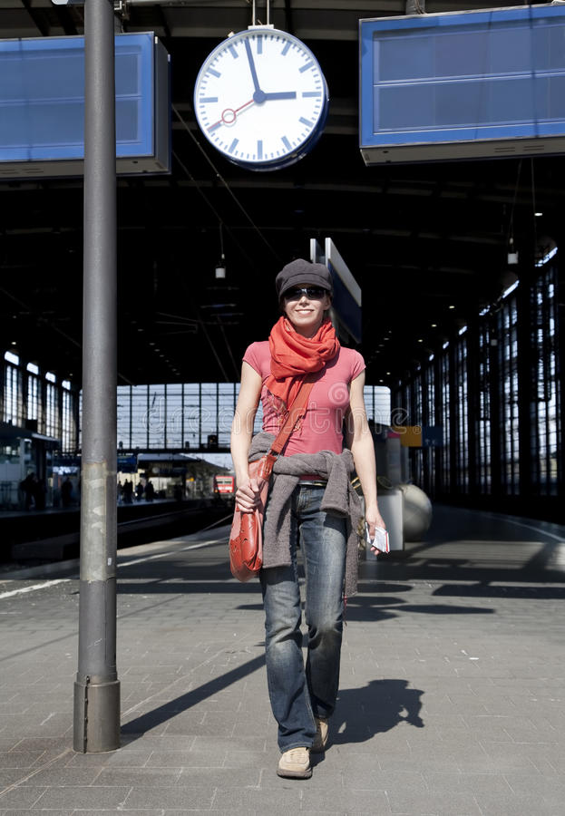 Download Waiting for the train stock image. Image of arrival, waiting - 14303235
