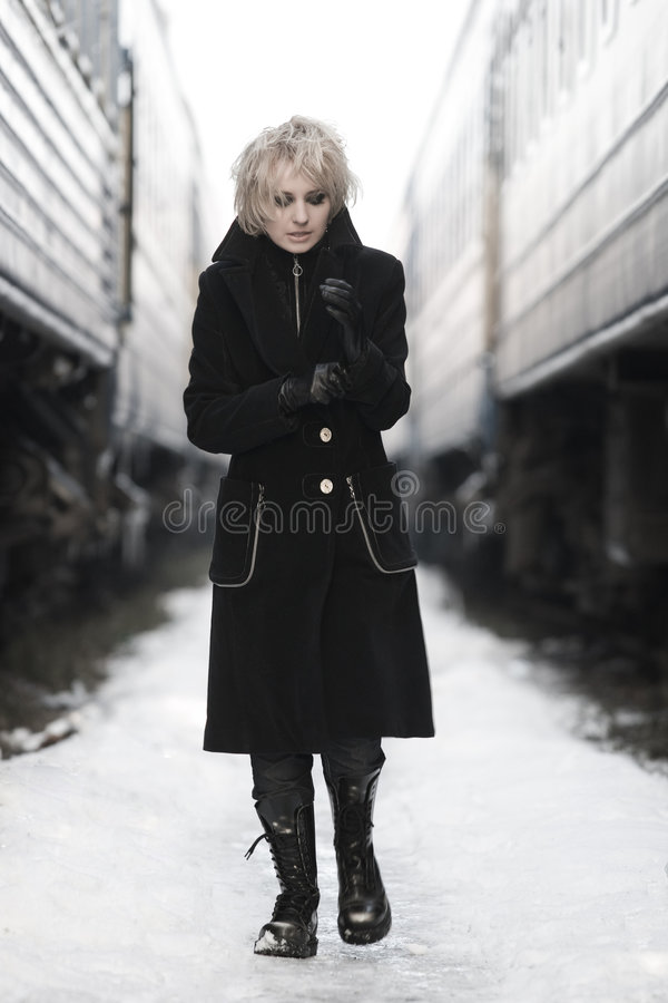 Download Waiting for a train stock image. Image of caucasian, girls - 6282861
