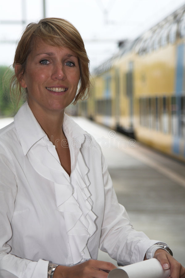 Download Waiting for the train stock image. Image of person, businesspeople - 970071